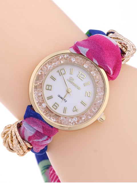 shops Gauze Braided Wrist Watch - ROSE MADDER  Mobile