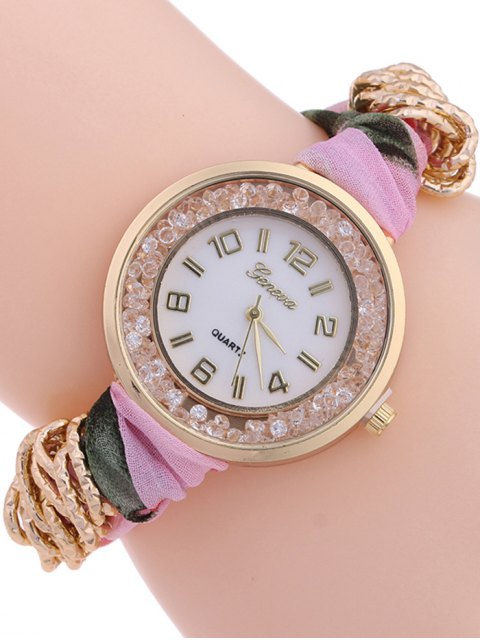 latest Gauze Braided Wrist Watch - LIGHT PINK  Mobile