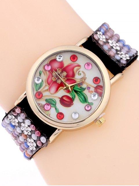 sale Studded Analog Bracelet Watch - BLACK  Mobile