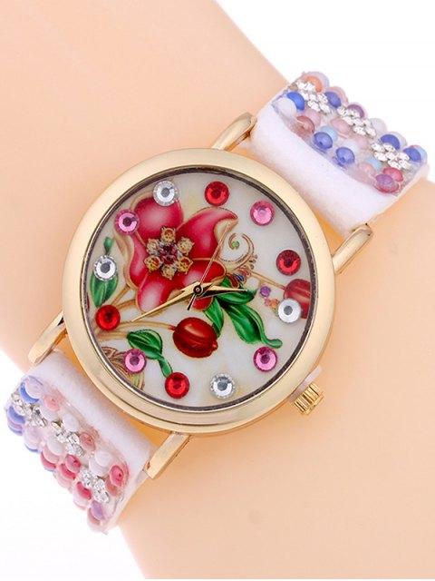 lady Studded Analog Bracelet Watch -   Mobile