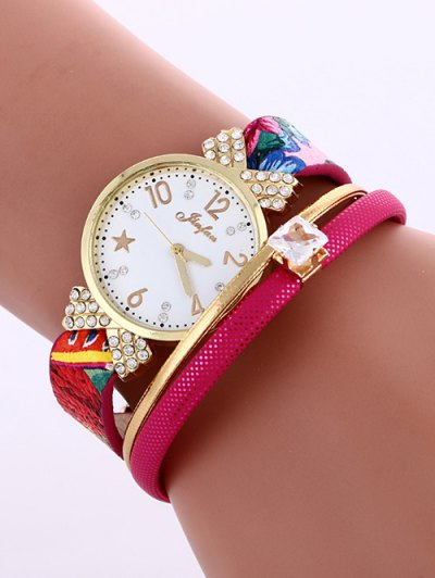 Faux Leather Wrist Watch - ROSE MADDER  Mobile