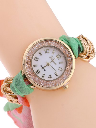 Gauze Braided Wrist Watch - LIGHT GREEN  Mobile