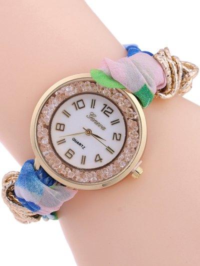 Gauze Braided Wrist Watch - SHALLOW PINK  Mobile