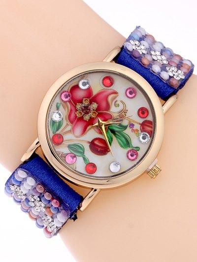 Studded Analog Bracelet Watch - SAPPHIRE BLUE  Mobile