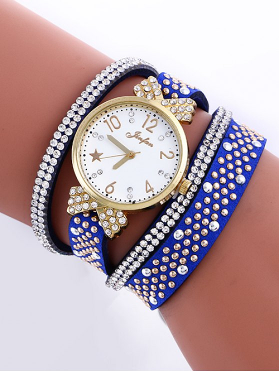 Diamante de Imitación Capa de Reloj - Azul