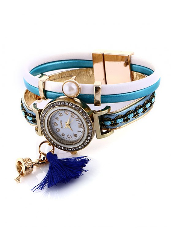 Faux Pearl Fringe Watch - LAKE BLUE  Mobile