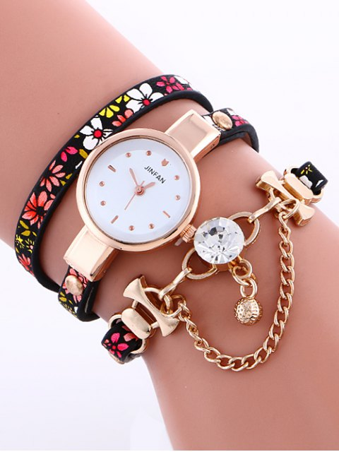 best Chain Beaded Layered Watch - RED  Mobile