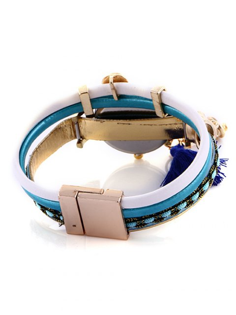 lady Faux Pearl Fringe Watch - LAKE BLUE  Mobile