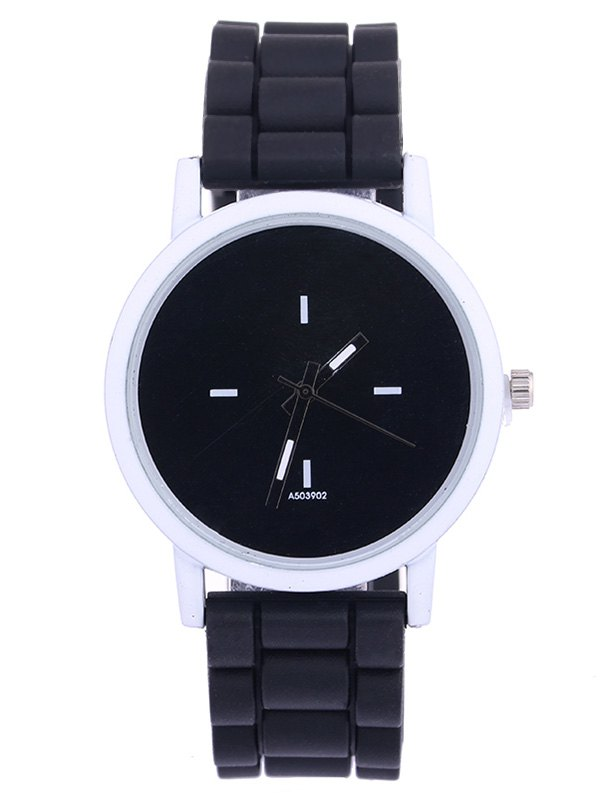 Sport Round Silicone Watch