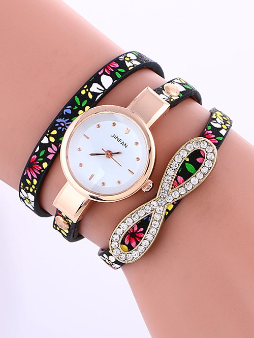 Layered Infinity Rhinestone Watch