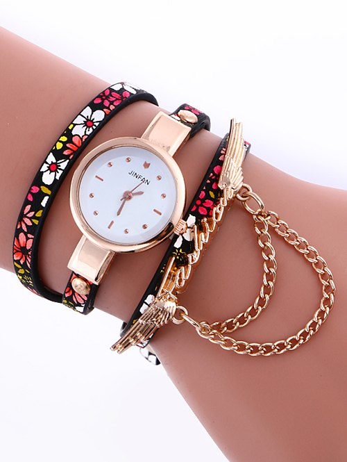 Layered Chain Wings Watch