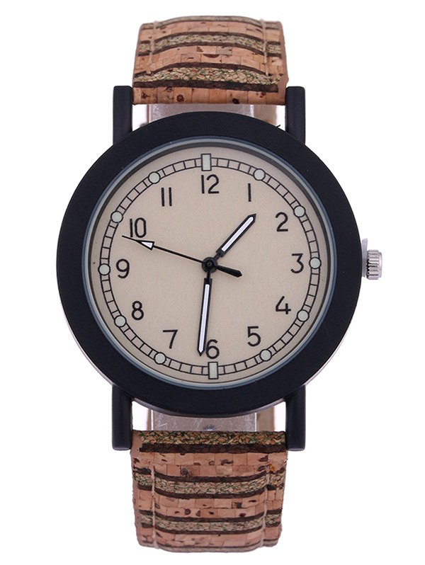 PU Leather Quartz Watch