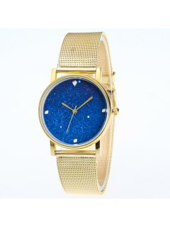 Babysbreath Dial Stainless Steel Watch - Golden