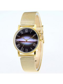 Milky Way Dial Stainless Steel Watch - Golden