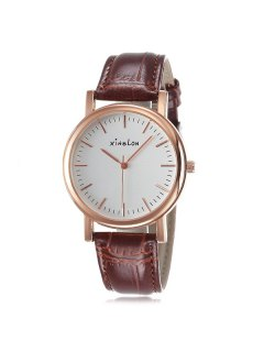 Artificial Leather Wrist Watch - Rose Gold